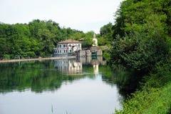 Italien, Lombardei, entlang dem Adda-Fluss, die Verdammung Lizenzfreies Stockfoto