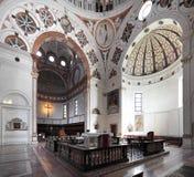 Italien - Lombardy - Milan - den Santa Maria delleGrazie kyrkan med freskomålningen för sista kvällsmål av Leonardo da Vinci arkivbild