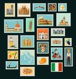 Italien loppstämplar royaltyfri illustrationer