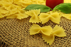 Italien makaronu farfalle Zdjęcie Stock