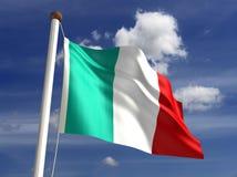Italien-Markierungsfahne (mit Ausschnittspfad) Lizenzfreies Stockfoto