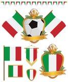 Italien-Markierungsfahnen Stockfoto