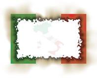 Italien-Markierungsfahnen-Feld gebrannt Lizenzfreie Stockfotos
