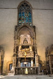 ITALIEN - NAPOLI - basilikadi Santa Chiara (internoen) Arkivbild