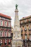 Italien - NAPOLI - piazza San Domenico Maggiore Arkivfoton