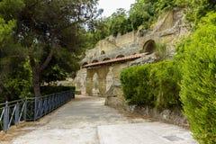 ITALIEN - NAPOLI - Scavi archeologici di Baia Royaltyfria Foton