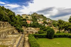 ITALIEN - NAPOLI - Scavi archeologici di Baia Arkivfoton