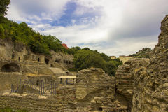 ITALIEN - NAPOLI - Scavi archeologici di Baia Arkivbilder