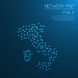 Italien-Netzkarte Stockfoto