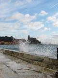 Italien på kusten Arkivfoto