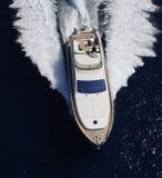 Italien, Panaresa Insel, Luxuxyacht Stockfotografie