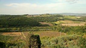 Italien Panorama der toskanischen Landschaft stock footage