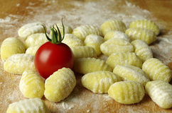Italien pasta gnocchi. Raw italien pasta gnocchi handmade Royalty Free Stock Photo