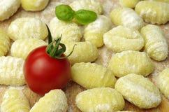 Italien pasta gnocchi. Raw italien pasta gnocchi handmade Stock Photos