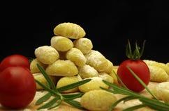 Italien pasta gnocchi. Raw italien pasta gnocchi handmade Stock Photography