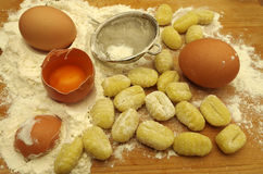 Italien pasta gnocchi. Raw italien pasta gnocchi handmade Stock Images