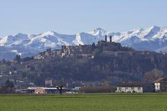 Italien: Piemontese landskap Arkivfoto