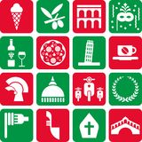 Italien-Piktogramme Stockbilder