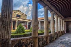 Italien Pompei, 02,01,2018 Casa del Menandro (hus av Menan Royaltyfri Foto