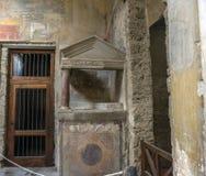 Italien Pompei, 02,01,2018 Casa del Menandro (hus av Menan Royaltyfri Bild