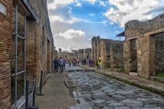 Italien Pompei, 02,01,2018 Casa del Menandro (hus av Menan Arkivbild