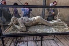 Italien, Pompeji, 02,01,2018 Pompeji Wiedergabe von ausgegrabenem Summen Stockbilder