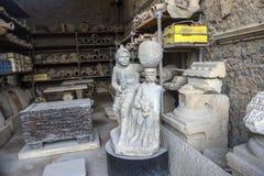 Italien, Pompeji, 02,01,2018 Pompeji Wiedergabe von ausgegrabenem Summen Lizenzfreie Stockfotos