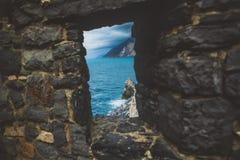Italien, Portovenere, die Kirche lizenzfreie stockbilder