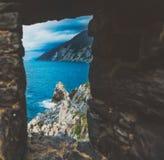 Italien, Portovenere, Kirche stockfoto