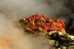Italien - Pozzuoli (naples) - Solfataravulkan Arkivfoto