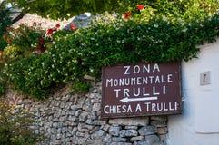 Italien Puglia Trulli Alberobello Stockfoto