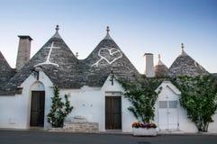 Italien Puglia Trulli Alberobello Lizenzfreies Stockbild