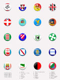 Italien-Regionmarkierungsfahnenkugeln/-stempel Stock Abbildung