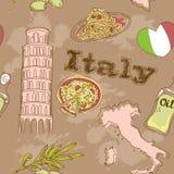 Italien-Reise grunge Karte Stockfotografie