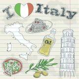 Italien-Reise grunge Karte Lizenzfreie Stockfotos