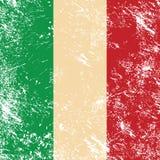 Italien-Retro- Markierungsfahne stock abbildung