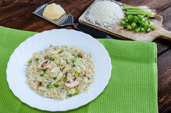Italien risotto with mushrooms Royalty Free Stock Image