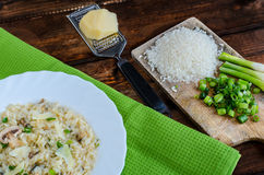 Italien risotto with mushrooms Stock Images