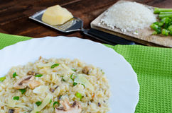 Italien risotto with mushrooms Royalty Free Stock Images