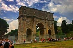 Italien, Rom, Konstantinsbogen Lizenzfreies Stockbild