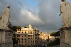 Italien Roma november 2017 arkivfoton