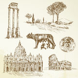 Italien - Rome vektor illustrationer