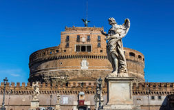 Italien rome, castel sant angelo Royaltyfria Bilder