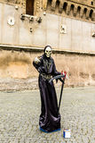 Italien - ROME - Castel Sant ' Angelo, artista di strada Arkivfoto