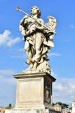 Italien Rome, Castel Sant ` Angelo, staty av ängeln med svampen Royaltyfria Foton
