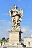 Italien Rome, Castel Sant ` Angelo, staty av ängeln med svampen Royaltyfria Bilder