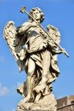 Italien Rome, Castel Sant ` Angelo, staty av ängeln med svampen Fotografering för Bildbyråer