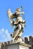 Italien Rome, Castel Sant ` Angelo, staty av ängeln med svampen Royaltyfri Foto