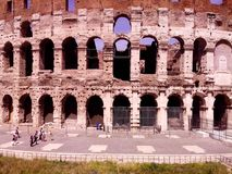 Italien Rome Colosseum historien av gladiatorer royaltyfria bilder