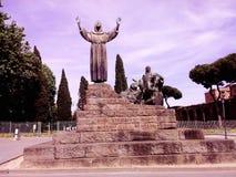 Italien Rome monument på fyrkanten Arkivbild